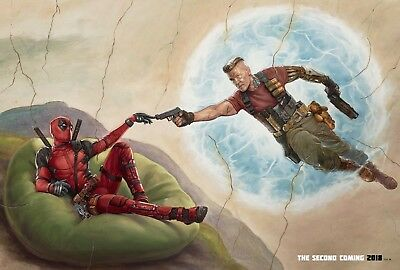 Deadpool 2 Movie Poster (24x36) - Ryan Reynolds, Josh Brolin, Second Coming v2
