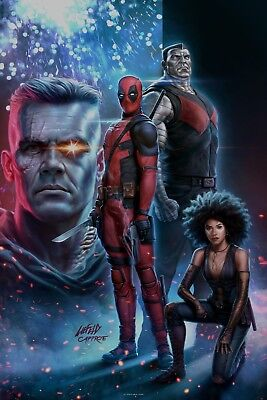Deadpool 2 Movie Poster (24x36) - Ryan Reynolds, Josh Brolin, Cable v4