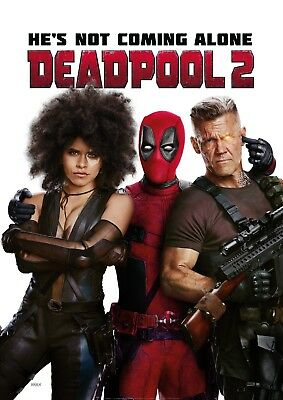 Deadpool 2 Movie Poster (24x36) - Ryan Reynolds, Josh Brolin, Cable v5