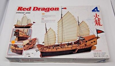 Artesania Latina 18020 Red Dragon Chinese Junk Wooden 160 Model Ship Sealed