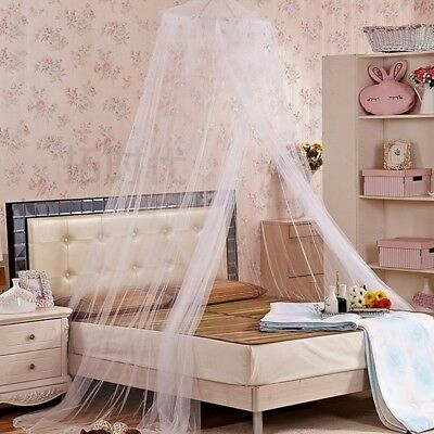 3 Colors Net Lace Mosquito Round Canopy Netting Dome Princess Curtain Bedding