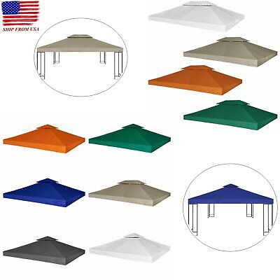 Outdoor Gazebo Cover Canopy Top Tent Replacement 2 Tier 10' x 10' 10' x 13'