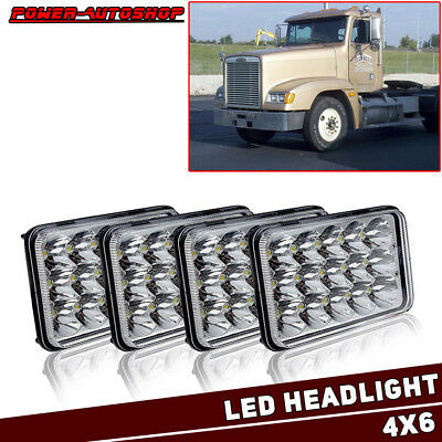 "4x6"" LED Sealed Headlights Hi/Low Beam Headlamps For FREIGHTLINER FLD120 112 FLD"