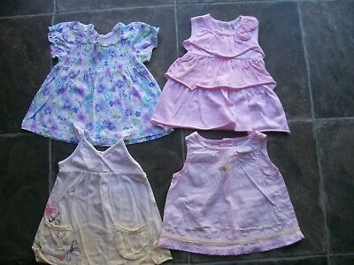 Baby Girl's Summer Top x 4 Incl Plum & Baby World Size 00 VGUC