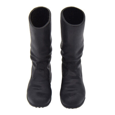"""1 Pair 1/6 Scale Black Long Boots Model for 12"""" Action Figure Toy Accessories"""