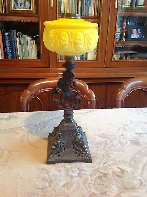 Antique Kerosene Lamp Base and Fount
