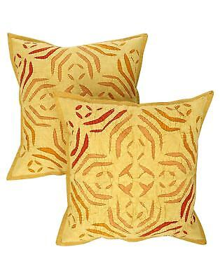 Rajrang Christmas Special Applique Work Cotton Cushion Cover Pair UK POST FREE
