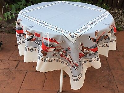 50's VINTAGE SUN-GLO GOURMET 52x52 TABLECLOTH NEW W/ TAGS