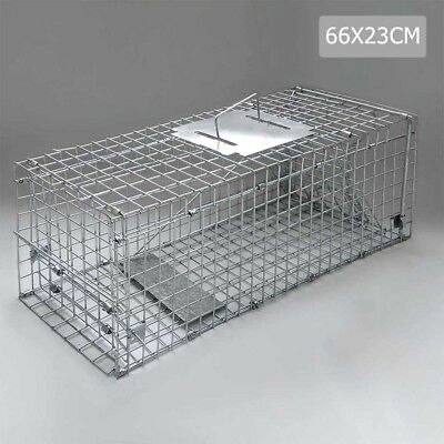 Trap Humane Possum Cage Live Animal Safe Catch Rabbit Cat Hare Fox Bird 66CM