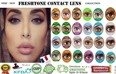 Color Contact Lenses * Lentilles de couleur * 1 year * * FRESH Tone + Etui