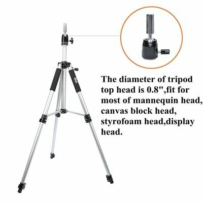 Adjustable Hairdressing? Training Tripod Stand Wig Mannequin False Head Holder