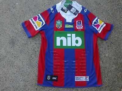 SIGNED LIMITED EDITION Newcastle Knights 2017 NRL rugby league jersey