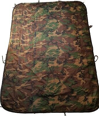 Zipped Army Poncho Liner Stuff Sack Dpm Quilted Blanket Issue Xl Sleeping Bag