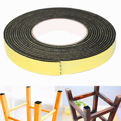 1Pc Single Sided Self Adhesive Foam Tape Sponge Rubber Strip Door Seal 5M Black