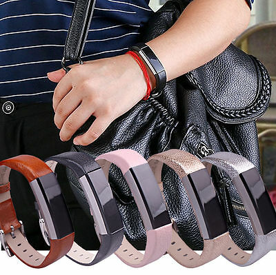 Soft Genuine Leather Replacement Wrist Watch Bracelet Band Strap For Fitbit Alta