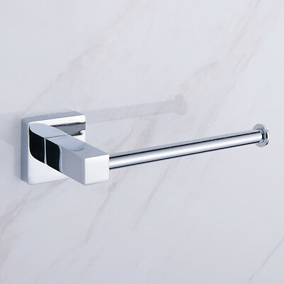 AU Chrome Toilet Paper Holder Tissue Roll Matt Stainless Steel Wall Mounted