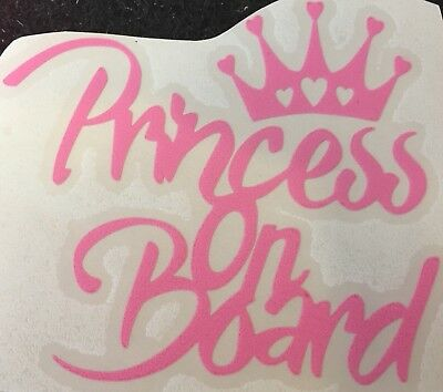 Princess Ema On Board Personalised Girl Car Sign Child Gift 001