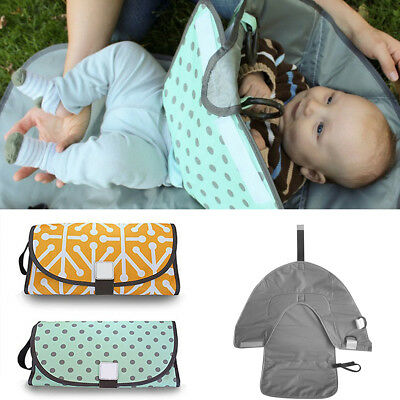 Baby Changing Pad Foldable Travel Toddler Diaper Mat Infant Waterproof Nappy Bag