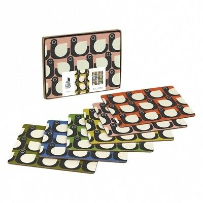 ORLA KIELY House SET OF 6 HEN PLACEMATS assorted colours TABLE MATS