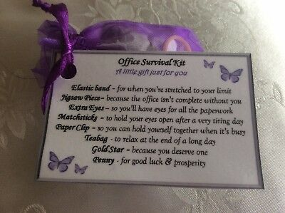 Office survival kit Colleague leaving thank you christmas gift idea for him her