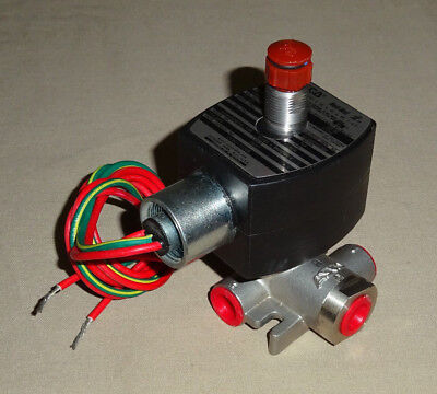 "Asco EF8317G308 Solenoid Valve 1/4"" 3-Way 24 VDC Stainless Steel NEW"
