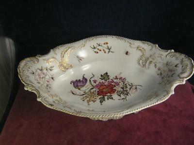 Huge  Rare Rosenthal Continental Porcelain  Hand Painted Centre Piece Dish Bowl