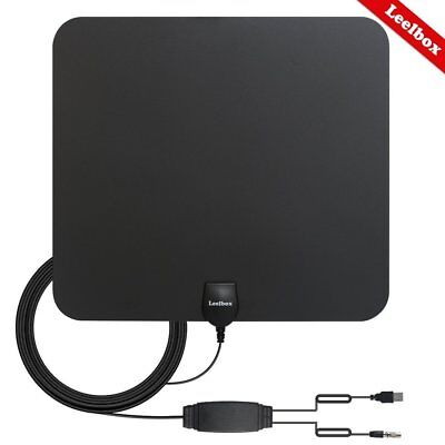 HDTV Antenna Indoor Amplified TV 50-60 Miles Digital 4k Full HD Indoor Soft Thin
