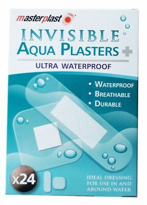 Masterplast Invisible Ultra Waterproof Swimmers Aqua Plasters - Pack of 24
