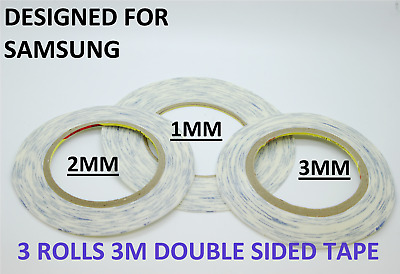 3M Double Sided Tape For Mobile Phone Repair,3 Pieces1Mm,2Mm,3Mm,transparent