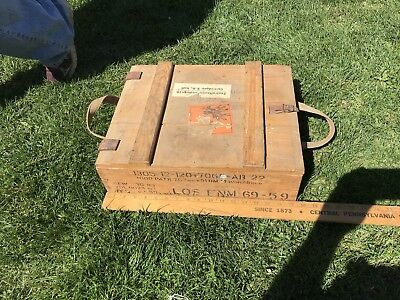 VTG Ammo Crate, Leather Hinges, Dovetailed, Empty, German ?