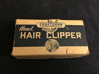 Craftsman Hand Held Clippers Vintage In Box With 2 Extra Clipoers