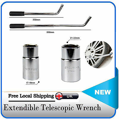 4 Size Telescopic Car Van Wheel Brace Socket Wrench Tyre Remover 17 19 21& 23mm