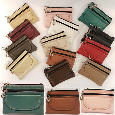 Ladies Leather Purse Wallet Genuine Fashion Womens Small Coin Card Holder Zip