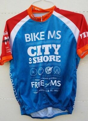 XL Blue//Red Verge V-Gear Bike MS City to Shore Men/'s Short Sleeve Jersey NOS