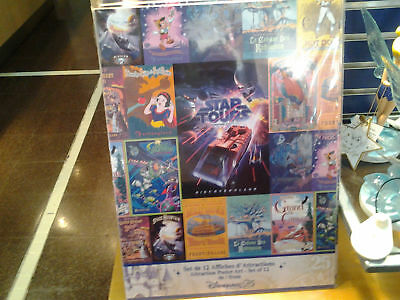 lot 12 posters disney 25éme anniversaire disneyland paris star tours pirates