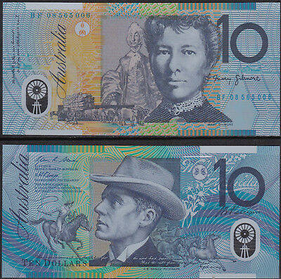 Australia  10 Dollars - Polymer Banknote P58e 2008 UNC