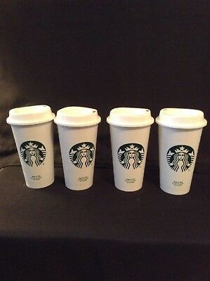 Starbucks Reusable Travel Cup To Go SIREN Coffee Cup (Grande 16 Oz) 4 Pack NEW