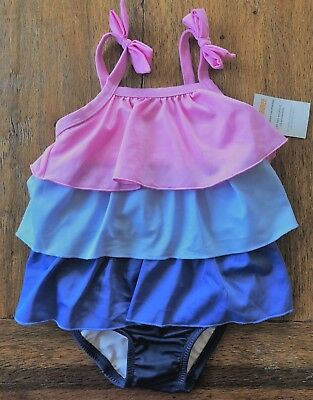 NWT Gymboree Tiered Ruffle Swimsuit 2T 3T 4T 5T 1-Piece Purple Blue Ombre Girls