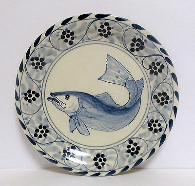 1 Davis Design Salad Plate Fish Eastern Shore Plates Nautical Nantucket Decor & 1 Davis Design Salad Plate Fish Eastern Shore Plates Nautical Nantucket Decor