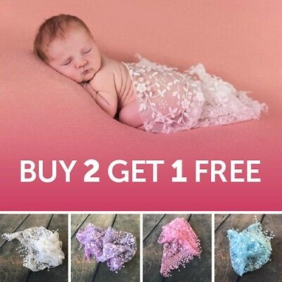 Lace tassel sheer floral triangle baby newborn wraps photography prop