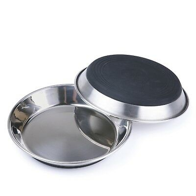 Stainless Steel Cat Dish Heavy Duty Anti-skid Shallow Food Bowl SuperDesign