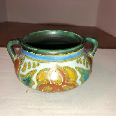 Vintage Lovely two handled childs chaffing cup, made in Holland by Gouda.