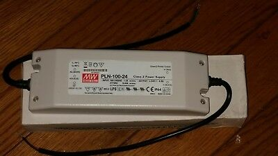 NEW IN BOX Mean Well MW PLN-100-24 Single Output 24V 4A 96W Class 2 Power Supply