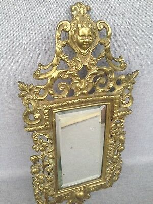 Antique french mirror made of bronze 19th century Napoleon III style fawn