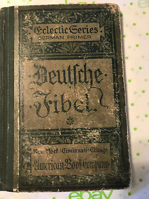 Antique American Book Co. German Primer Deutsche Fibel Book 1886, Free S/H