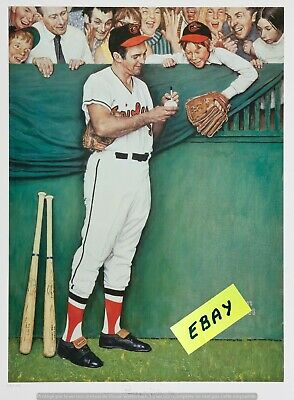 """gee"" Thanks  Brooks - Brooks Robinson  Baseball Poster  Norman  Rockwell- $6.99"