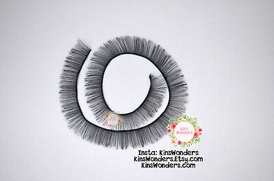Doll toy eyelashes, Black Brown White 3 10mmx20cm Doll making custom OOAK Blythe