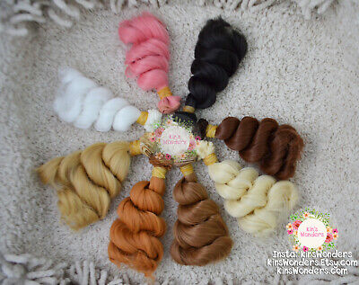 Weft for Dolls - Curly Wig Rooting OOAK Monster High BJD 15cm make doll hair