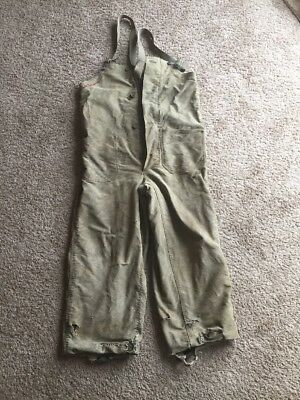 VTG 1940s WWll US Navy USN BIb Overalls Small Broken Zipper