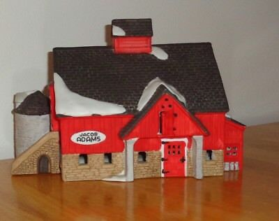 Dept 56 New England Village Collection Jacob Adams Barn 1986 Porcelain EUC